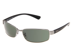 Ray-Ban - Metal Rectangular Wrap Sunglasses