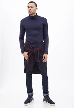 21Men - Classic Knit Turtleneck Sweater