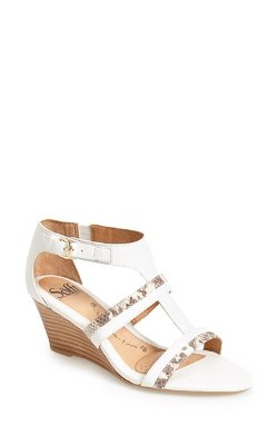 Söfft  - Pippa Leather T-Strap Wedge Sandal