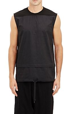 Public School - Poplin & Piqué Muscle T-Shirt