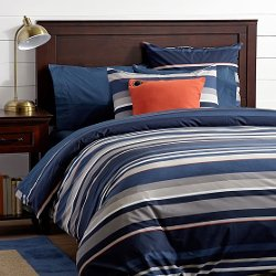 PB Teen - Stand Out Stripe Duvet Cover + Sham