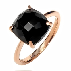 Gem Stone King - Square Black Onyx Ring