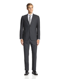 Armani Collezioni - Textured 2 Button Peak Lapel Suit