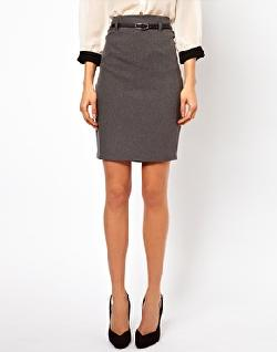 ASOS  - Belted Pencil Skirt
