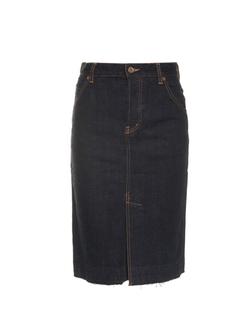 Muveil - Strawberry-Embroidered Denim Skirt