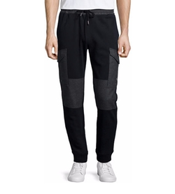 Diesel - Mixed Media Fleece Jogger Pants