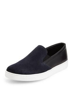 Prada  - Bicolor Suede & Leather Sneaker