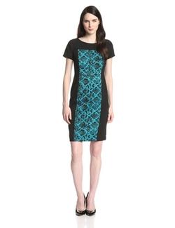 Jones New York - Printed Panel Shift Dress