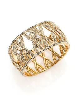 Adriana Orsini  - Athena Kite Cage Bangle Bracelet