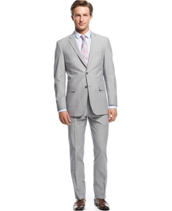 Perry Ellis - Sharkskin Slim-Fit Suit