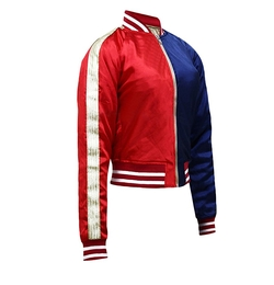 Hub Of Leather - Harley Quinn Suicide Squad Satin Fabric Jacket