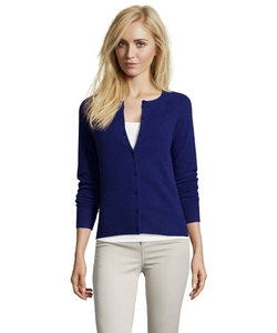 Hayden  - Cashmere Knit Crewneck Button-Front Cardigan