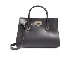 Jimmy Choo  - Medium Riley Calfskin Leather Tote Bag