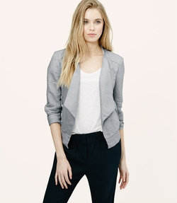 Loft - Draped Linen Cotton Jacket