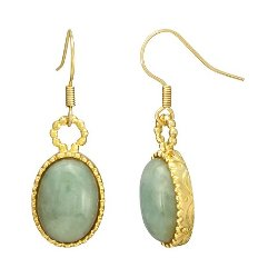 Target - Oval Jade Earrings