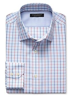 Banana-Republic - Slim-Fit Non-Iron Tri-Check Shirt