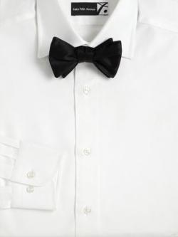 Saks Fifth Avenue Collection  - Pre-Tied Grosgrain Silk Bow Tie