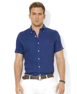 Polo Ralph Lauren  - Classic-Fit Short-Sleeved Linen Sport Shirt