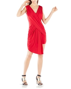 BCBGMaxazria - Crisscross Draped Dress