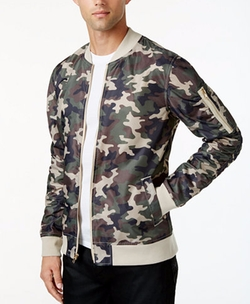 Jaywalker - Ruched Nylon Camo Bomber Jacket