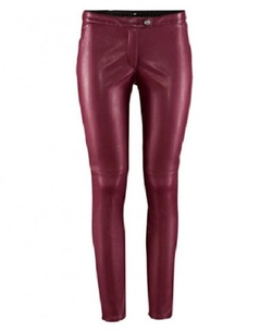 Chic Nova - Low-rise Waist Stretchy PU Leather Pants