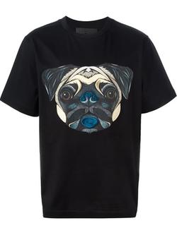 Juun.j - Dog Face Print T-Shirt