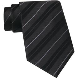 Claiborne - Textured Stripe Silk Tie