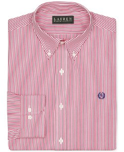 Lauren Ralph Lauren - Non-Iron Slim-Fit Stripe Dress Shirt