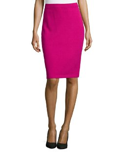 St. John Collection   - Pull-On Knit Pencil Skirt