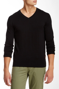 Ben Sherman - Knit Elbow V-Neck Pullover