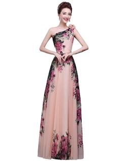Erosebridal - Flower Print Prom Dress