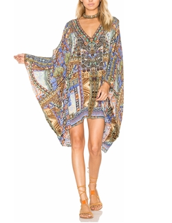 Camilla - Split Shoulder Short Kaftan