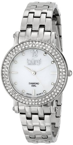 Burgi - Swiss Quartz Diamond Crystal Watch
