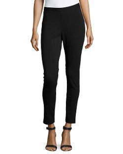 Liquid by Sioni Stretch Ponte  - Skinny Ankle Pants
