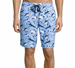 Vilebrequin - Okoa Shark-Print Swim Trunks