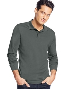 Tasso Elba Signature - Interlock Long Sleeve Polo Shirt