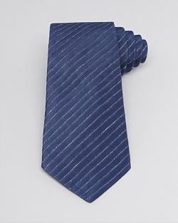 Armani Collezioni  - Heathered Diagonal Stripe Classic Tie