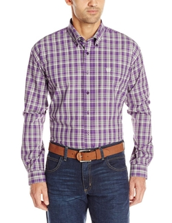 Cinch  - Classic Fit Long Sleeve Button Down Plaid Shirt