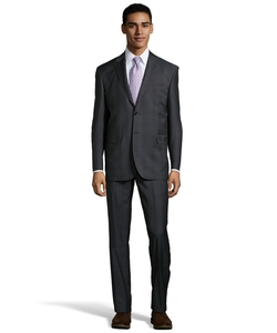 Yves Saint Laurent - Plaid Wool Two-Button Suit
