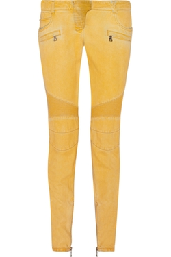 Balmain - Coated Low-Rise Skinny Jeans