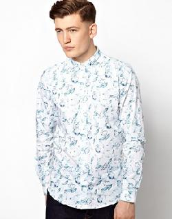 Vito  - Shirt With Floral Skull Print