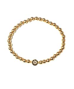 Mali Beads  - Gold Filled Beaded Bracelet