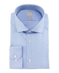 Ike Behar - Solid Textured Dress Shirt