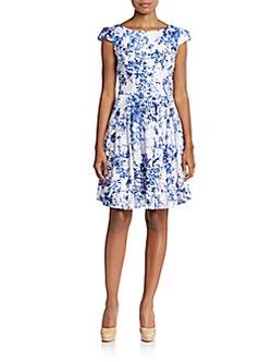 Betsey Johnson -  Lace Floral-Print A-Line Dress