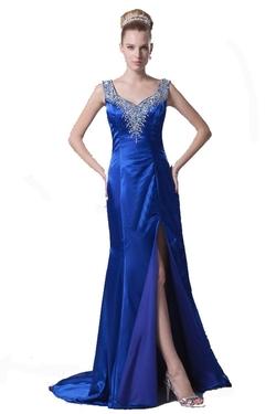 Lttdress - Sleeveless V-Neck Evening Dress