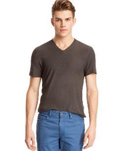 Kenneth Cole Reaction - Core Garment Dyed Slub V-Neck T-Shirt
