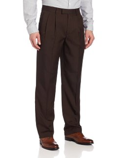 John Henry - Double Pleat Modern Fit Crosshatch Microfiber Pant