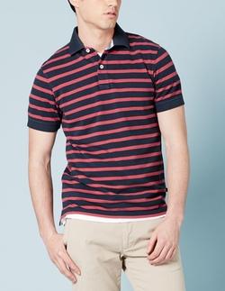 Boden - Striped Piqué Polo Shirt