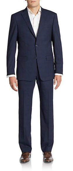 Michael Kors  - Regular-Fit Tonal Windowpane Wool Suit