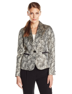 Nine West - Printed One Button Suit Jacket